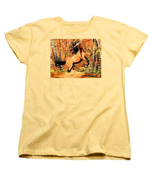 Autumn Frolick Women's T-Shirt (Standard Cut) by Cheryl Poland