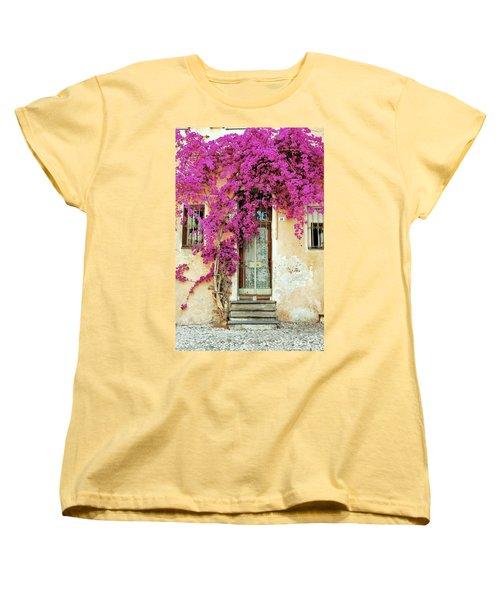 Bougainvillea Doorway Women's T-Shirt (Standard Cut) by Allen Beatty