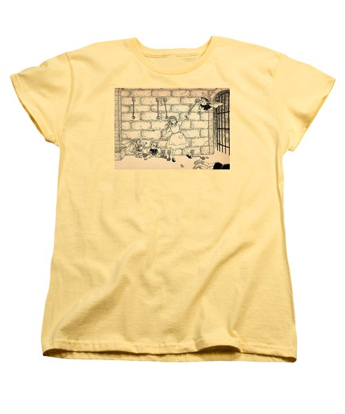 Women's T-Shirt (Standard Cut) featuring the drawing Escape by Reynold Jay