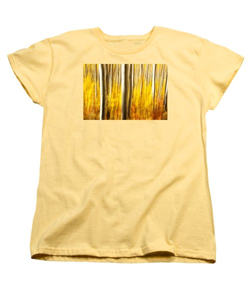 Women's T-Shirt (Standard Cut) featuring the photograph Fall Abstract by Ronda Kimbrow