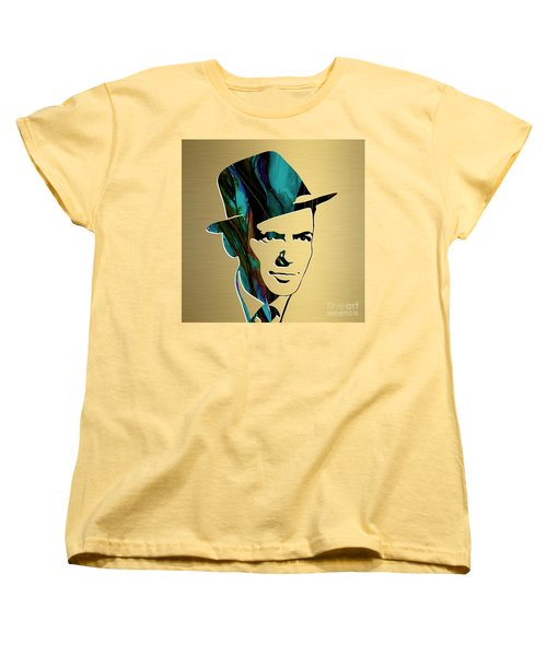 Frank Sinatra Gold Series Women's T-Shirt (Standard Cut) by Marvin Blaine