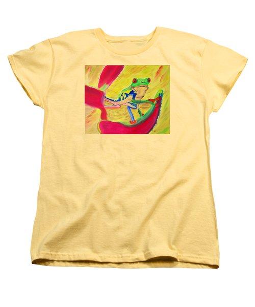 Rainforest Melody Women's T-Shirt (Standard Cut) by Meryl Goudey