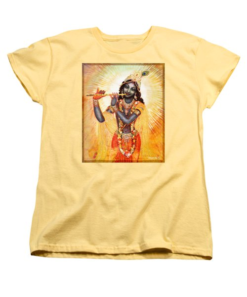 Krishna With The Flute Women's T-Shirt (Standard Cut) by Ananda Vdovic