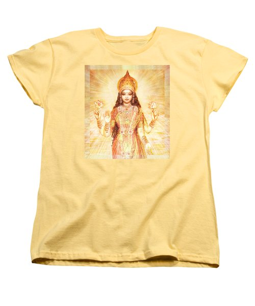 Lakshmi The Goddess Of Fortune And Abundance Women's T-Shirt (Standard Cut) by Ananda Vdovic