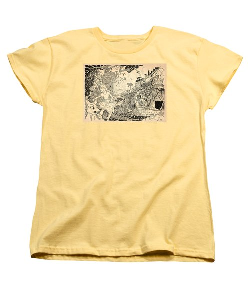 Women's T-Shirt (Standard Cut) featuring the drawing Open Sesame by Reynold Jay
