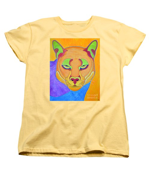 Women's T-Shirt (Standard Cut) featuring the painting Puma 1 by Joseph J Stevens