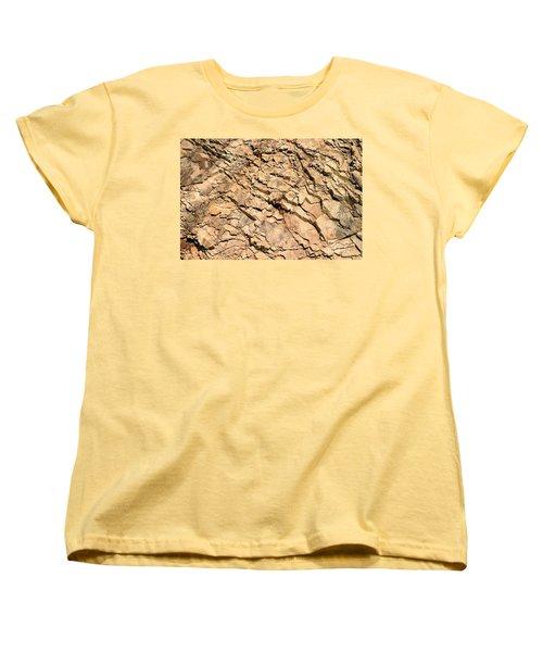 Women's T-Shirt (Standard Cut) featuring the photograph Rock Wall by Henrik Lehnerer