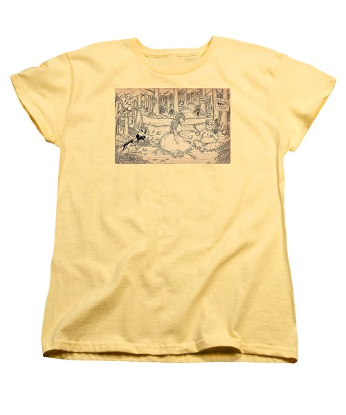 Women's T-Shirt (Standard Cut) featuring the drawing Tammy And The Baby Hoargg by Reynold Jay