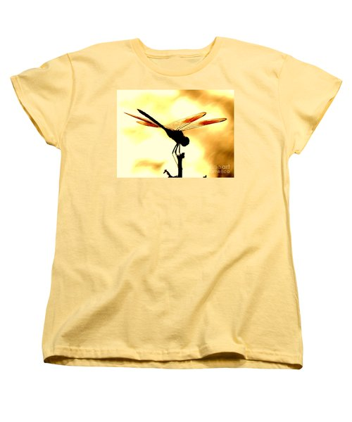 The Light Of Flight Upon The Mosquito Hawk At The Mississippi River In New Orleans Louisiana Women's T-Shirt (Standard Cut) by Michael Hoard