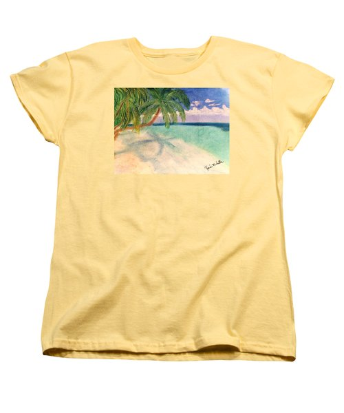 Tropical Shores Women's T-Shirt (Standard Cut) by Renee Michelle Wenker