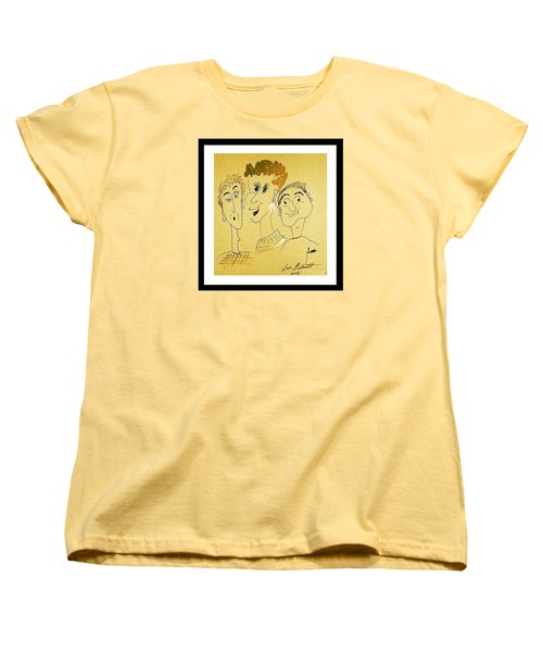 Women's T-Shirt (Standard Cut) featuring the drawing We Are Family by Iris Gelbart