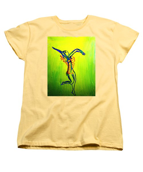 Dinka Dance - South Sudan Women's T-Shirt (Standard Cut) by Gloria Ssali