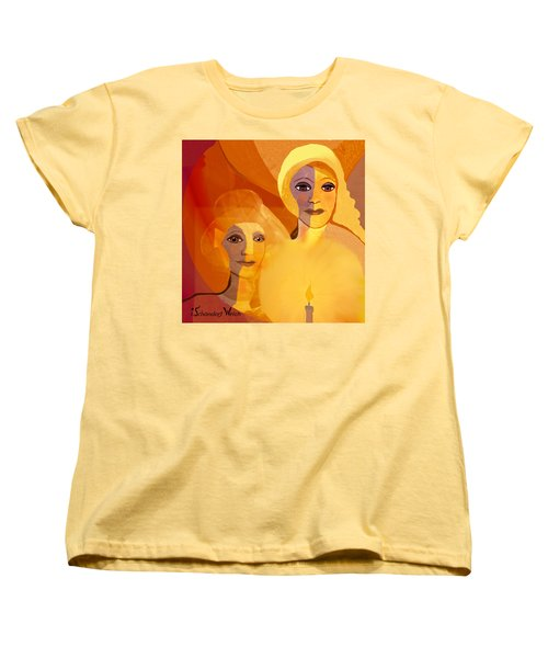 1196 - Candle Of Our Life .. Women's T-Shirt (Standard Cut) by Irmgard Schoendorf Welch
