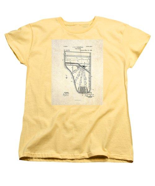 1885 Steinway Piano Frame Patent Art Women's T-Shirt (Standard Cut)