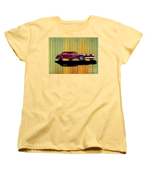 1936 Mercedes Benz Classic Car Women's T-Shirt (Standard Cut) by Belinda Threeths