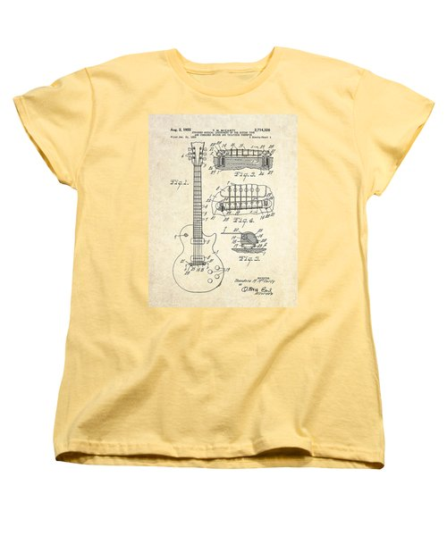 1955 Gibson Les Paul Patent Drawing Women's T-Shirt (Standard Cut)