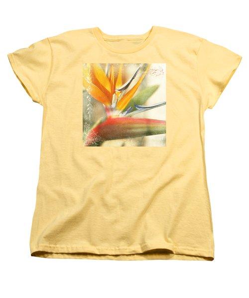 Bird Of Paradise - Strelitzea Reginae - Tropical Flowers Of Hawaii Women's T-Shirt (Standard Cut)