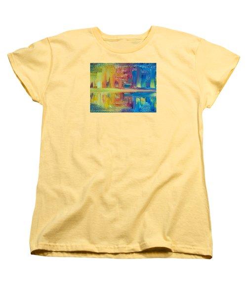 City Lights Women's T-Shirt (Standard Cut) by Teresa Wegrzyn