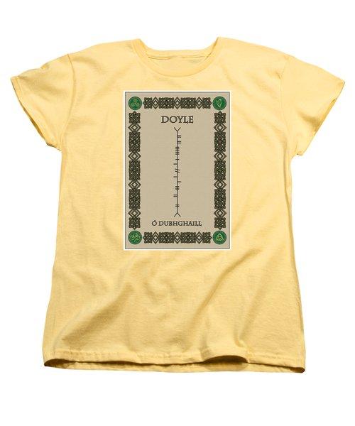 Women's T-Shirt (Standard Cut) featuring the digital art Doyle Written In Ogham by Ireland Calling