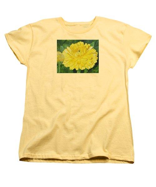 Golden Punch Women's T-Shirt (Standard Cut) by Donna  Manaraze