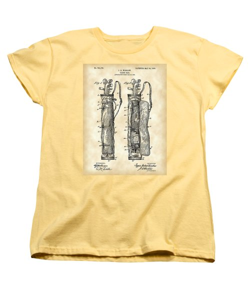 Golf Bag Patent 1905 - Vintage Women's T-Shirt (Standard Cut) by Stephen Younts