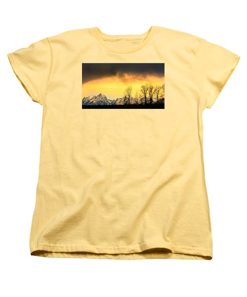 Women's T-Shirt (Standard Cut) featuring the photograph Grand Tetons Wyoming by Amanda Stadther