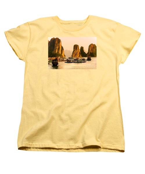 Halong Bay - Vietnam Women's T-Shirt (Standard Cut) by Luciano Mortula