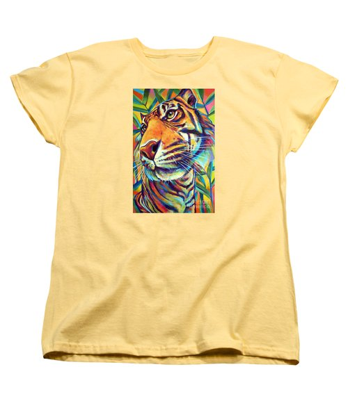 Women's T-Shirt (Standard Cut) featuring the painting Le Tigre by Robert Phelps