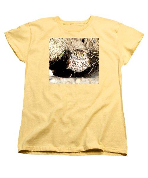 Owl Women's T-Shirt (Standard Cut) by Oksana Semenchenko