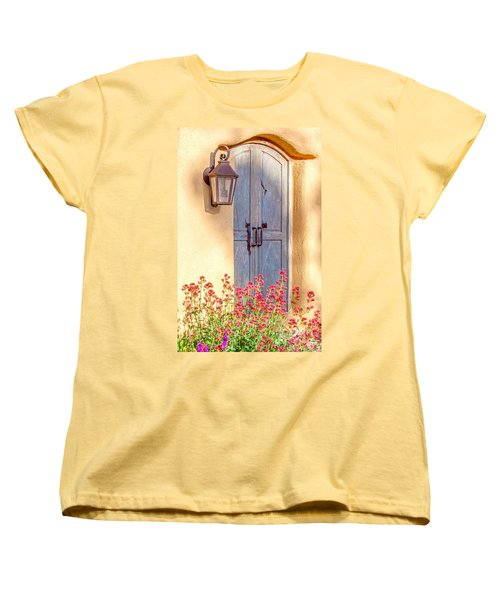 Doors Of Santa Fe Women's T-Shirt (Standard Cut) by Roselynne Broussard