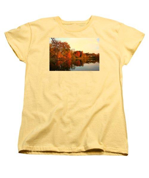 Shady Oak Lake  Women's T-Shirt (Standard Cut) by Amanda Stadther
