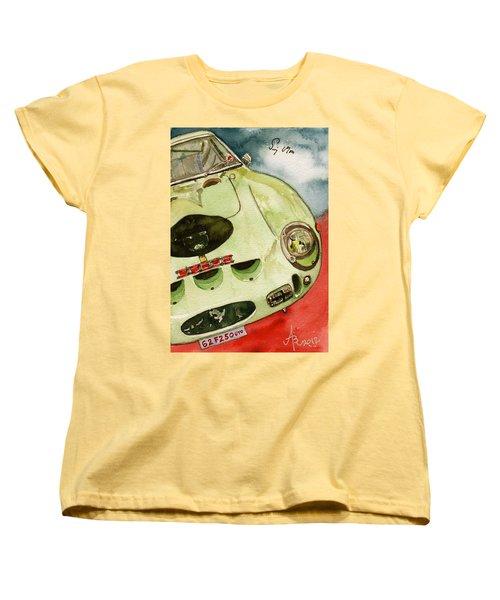 62 Ferrari 250 Gto Signed By Sir Stirling Moss Women's T-Shirt (Standard Cut)