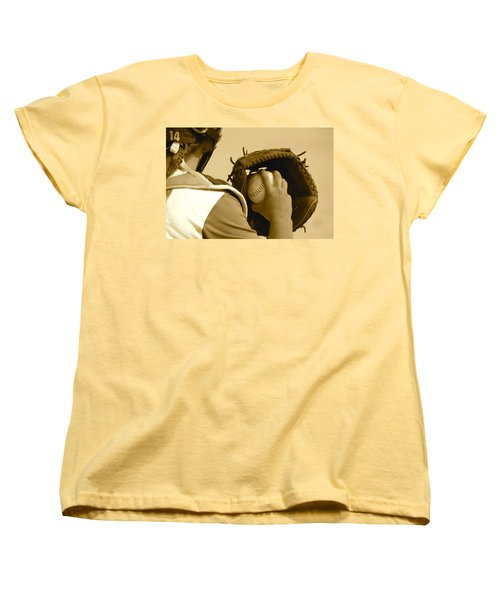 A Game Of Catch Women's T-Shirt (Standard Cut) by Laddie Halupa