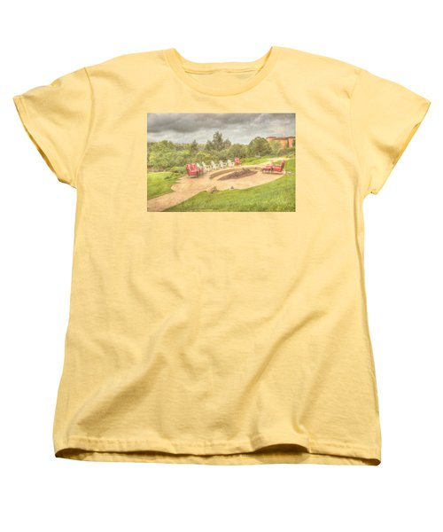 Women's T-Shirt (Standard Cut) featuring the photograph A Gathering Of Friends by Heidi Smith