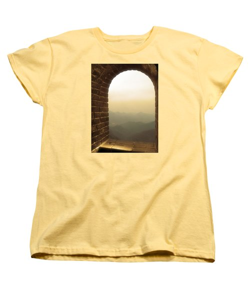 Women's T-Shirt (Standard Cut) featuring the photograph A Great View Of China by Nicola Nobile