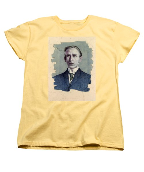 Women's T-Shirt (Standard Cut) featuring the painting A Man Who Used To Be Somebody To Someone by James W Johnson