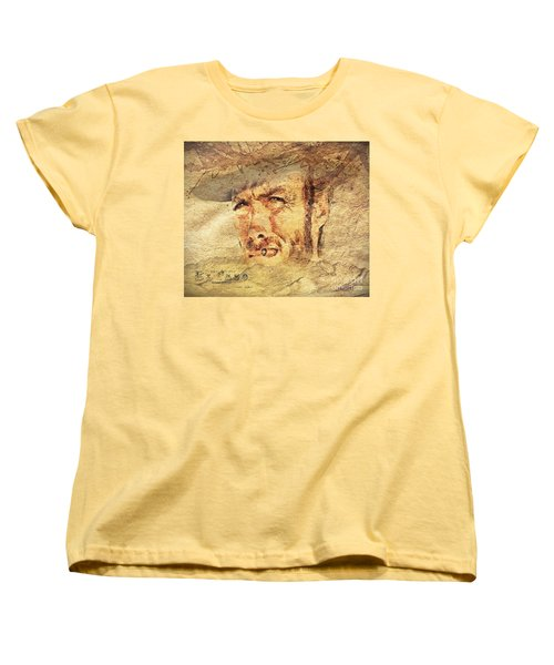 A Man With No Name Women's T-Shirt (Standard Cut) by Mo T