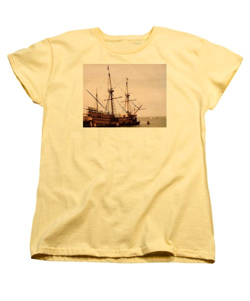 A Small Old Clipper Ship Women's T-Shirt (Standard Cut) by Amazing Photographs AKA Christian Wilson
