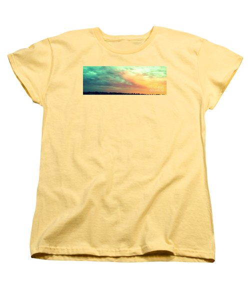 A Sunset Women's T-Shirt (Standard Cut) by Roberto Gagliardi