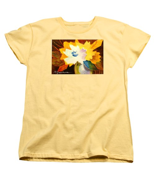 Abstract Flowers 2 Women's T-Shirt (Standard Cut) by Marilyn Jacobson