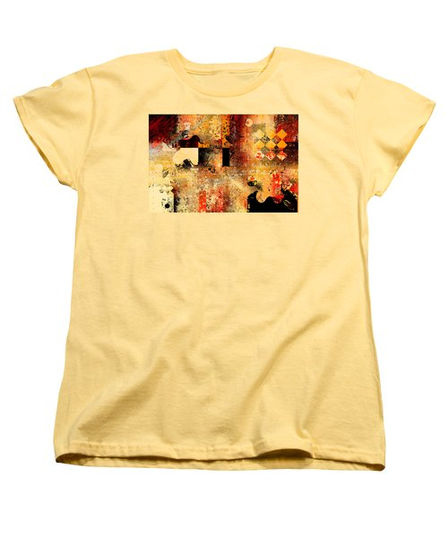 Abstracture - 103106046f Women's T-Shirt (Standard Cut) by Variance Collections