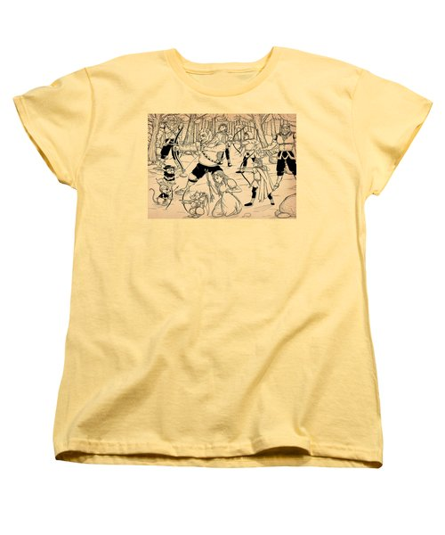 Women's T-Shirt (Standard Cut) featuring the painting Archery In Oxboar by Reynold Jay