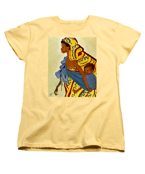African Mother And Child Women's T-Shirt (Standard Cut) by Sher Nasser