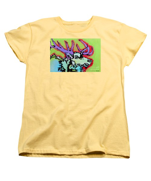 Women's T-Shirt (Standard Cut) featuring the painting After Midnight by Nicole Gaitan