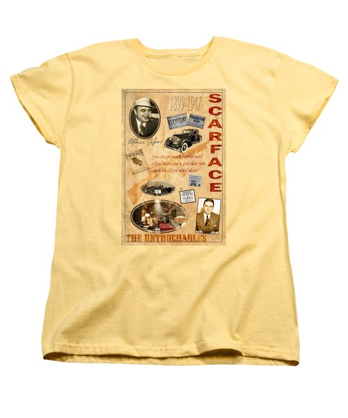Al Capone Women's T-Shirt (Standard Cut) by Andrew Fare