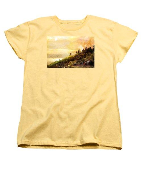 Alaska Montage Women's T-Shirt (Standard Cut) by Ann Lauwers