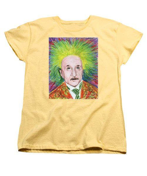 Women's T-Shirt (Standard Cut) featuring the drawing Albert Einstein by Yoshiko Mishina