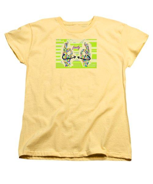 American Sign Language Family                                                    Women's T-Shirt (Standard Cut) by Eloise Schneider