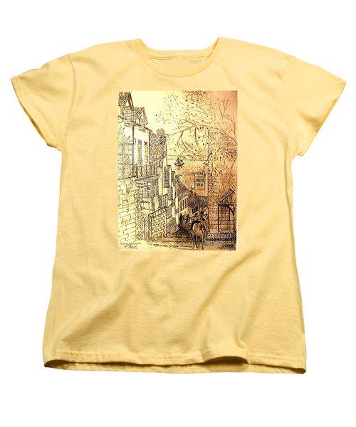 An English Fishing Village Women's T-Shirt (Standard Cut) by Hazel Holland