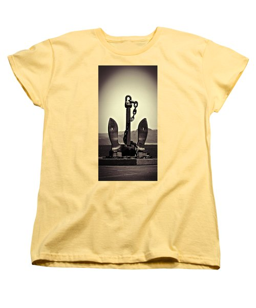 Ocean Women's T-Shirt (Standard Cut) featuring the photograph Anchor  by Aaron Berg